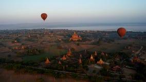 Полет над Bagan, Мьянмой стоковое фото rf