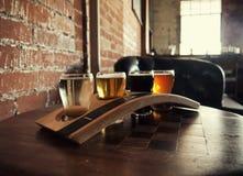 Полет пива ремесла Стоковые Изображения RF