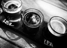 Полет пива ремесла Стоковое Фото
