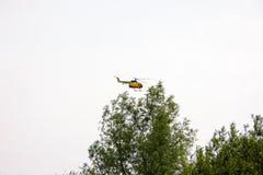 Полет пропеллера воздушных судн выставки вертолета мухы Стоковое Изображение
