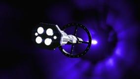 Полет червоточини космического корабля иллюстрация штока