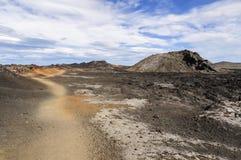Поле лавы кальдеры Krafla Стоковые Изображения RF