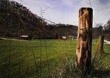 Поле амбара гор Западной Вирджинии Стоковые Фото