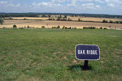 Поле брани Gettysburg на Oak Ridge Стоковая Фотография RF