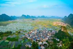 Поле в Guilin Китая Стоковые Фотографии RF