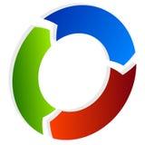 Поделенная на сегменты стрелка круга Круговой значок стрелки Процесс, progres, r Стоковые Изображения