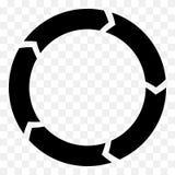 Поделенная на сегменты стрелка круга Круговой значок стрелки Процесс, progres, r Стоковая Фотография RF