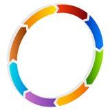 Поделенная на сегменты стрелка круга Круговой значок стрелки Процесс, progres, r Стоковое Изображение