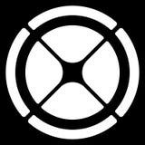 Поделенное на сегменты перекрестие круга, символ цели Шаблон диаграммы, GUI иллюстрация вектора