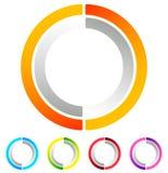 Поделенный на сегменты значок конспекта круга Круговой геометрический логотип, значок внутри Стоковая Фотография RF
