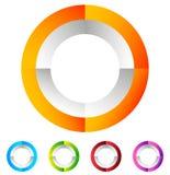 Поделенный на сегменты значок круга родовой абстрактный, круговой геометрический логотип Стоковая Фотография RF