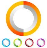 Поделенный на сегменты значок круга родовой абстрактный, круговой геометрический логотип Стоковые Изображения