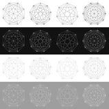 Поделенный на сегменты элемент с решеткой Геометрическая форма с сетью l иллюстрация вектора