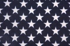 Поле звезды на американском флаге Стоковая Фотография RF