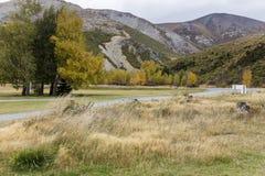 Поле и гора Стоковые Фотографии RF