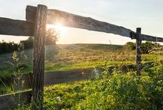 Поле и загородка Стоковая Фотография RF
