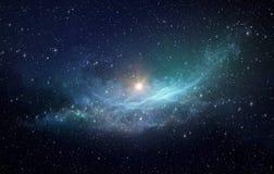Поле и межзвёздное облако звезды в космическом пространстве Стоковые Фото