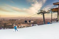 Поле катания на лыжах Стоковые Фото