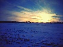 поле морозное Стоковое Изображение RF