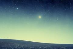 Поле на ноче Стоковое Изображение