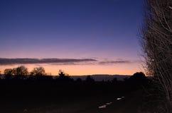 Поле на ноче Стоковые Фотографии RF