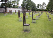 Поле пустых стульев, мемориал Оклахомаа-Сити Стоковые Изображения