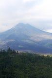 Поле дремлющего вулкана и лавы Стоковое фото RF