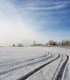 Поле снега стоковое изображение