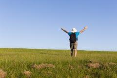 Поле травы человека Стоковая Фотография RF