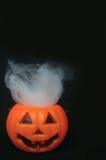 Поддельная тыква с spiderwebs Стоковая Фотография RF