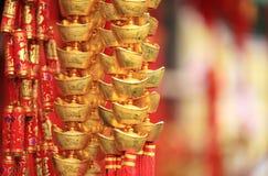 Поддельный золотой ингот Стоковые Фотографии RF