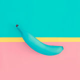 Поддельный дизайн моды банана Ванильный плодоовощ стиля Стоковое Изображение RF
