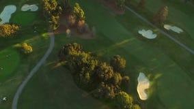 Поле для гольфа антенны Лос-Анджелеса сток-видео