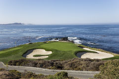 Поле для гольфа береговой линии в Калифорнии Стоковое Изображение RF