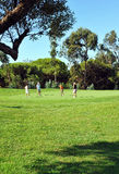 Поле для гольфа, игроки, Андалусия, Испания Стоковое Изображение