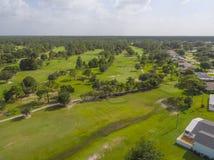 Поле для гольфа от неба Стоковые Изображения
