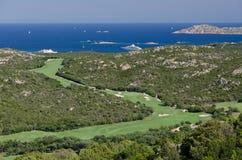 Поле для гольфа, побережье Smeralda, Сардиния Стоковые Фото
