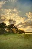 Поле для гольфа портового района, hdr стоковое фото