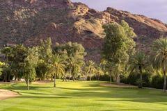 Поле для гольфа пустыни стоковая фотография rf