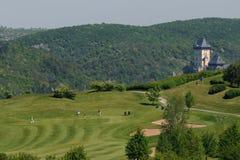 Поле для гольфа - чехия стоковые фотографии rf