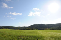 Поле для гольфа - чехия Стоковая Фотография