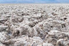 Поле для гольфа дьявола, национальный парк Death Valley, США Стоковое фото RF