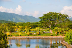 Поле для гольфа Ixtapa стоковое изображение