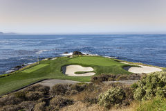 Поле для гольфа Pebble Beach, Монтерей, Калифорния, США Стоковое Изображение