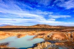 Поле Krafla вулканическое Стоковые Фото