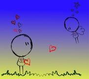 2 под звездами - романс Стоковые Изображения RF