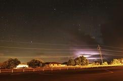 Под звездами с молнией перед вашими глазами Стоковое Изображение RF