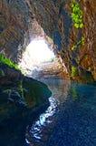 Подземелье Melissani Стоковые Изображения RF