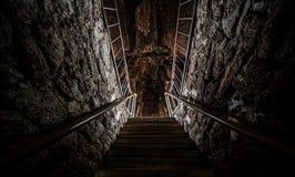 Подземелье на Wat Ratchaburana Стоковые Изображения