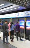 подземка пассажиров автомобиля Пекин Стоковое Изображение RF
